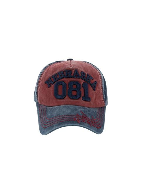 Laslusa Nebraska 081 Beyzbol Cap Şapka Bordo
